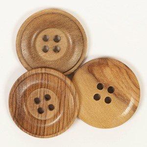 Knoop 25 mm gebrand hout - 512