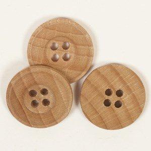 Knoop 25 mm licht hout - 502