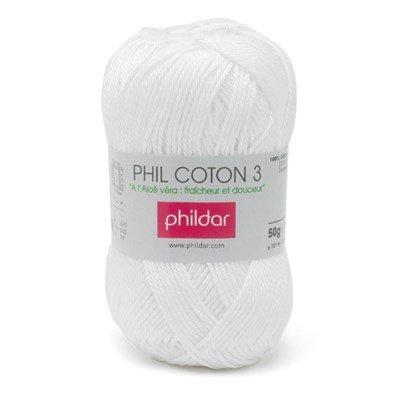 Phildar Phil coton 3 Blanc