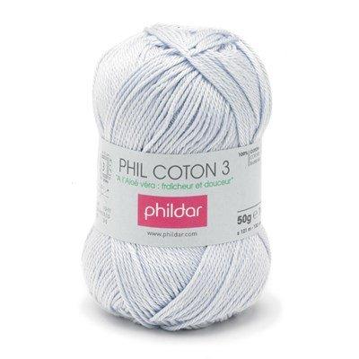 Phildar Phil coton 3 Ciel