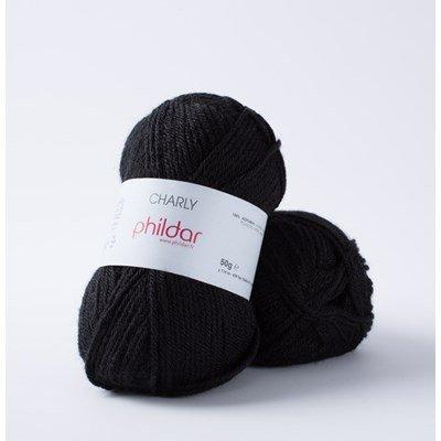 Phildar Charly Noir 0067 - 1200 - zwart