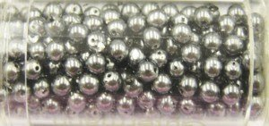 Glasparels 8 mm kleur 9380 - zilver