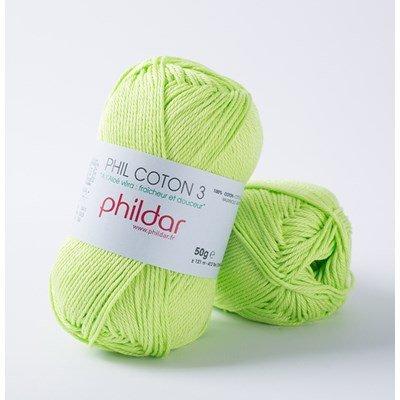 Phildar Phil coton 3 Pistache 1298 - 43 op=op