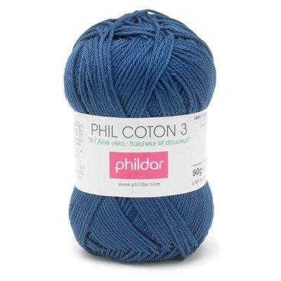 Phildar Phil coton 3 Marine