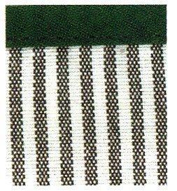 Schort ecru groen gestreept met aida band