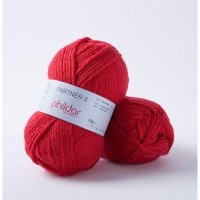 Phildar Partner 6 Rouge