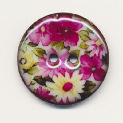 Knoop 27 mm met bloem