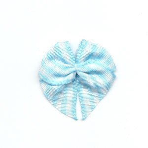 Strikje geruit licht blauw - wit 10 stuks