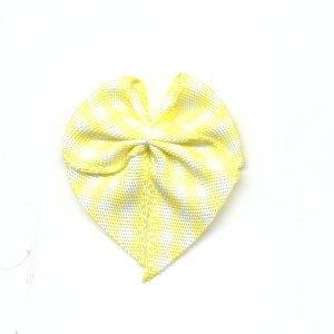 Strikje geruit geel - wit 10 stuks