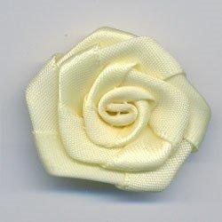 bloem satijn 35 mm - licht geel 1 stuks op=op