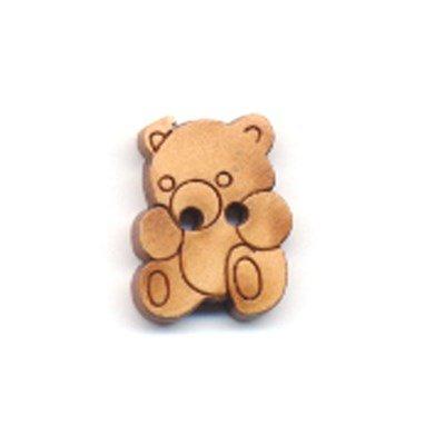 knoop 10 a 14 mm beer - licht hout