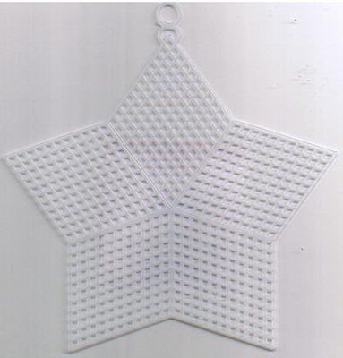 Plastic canvas ster 8,3 cm 10 stuks