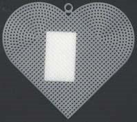 Plastic canvas hart 7,5 cm 10 stuks