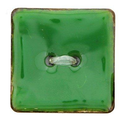 knoop 25 mm vierkant groen