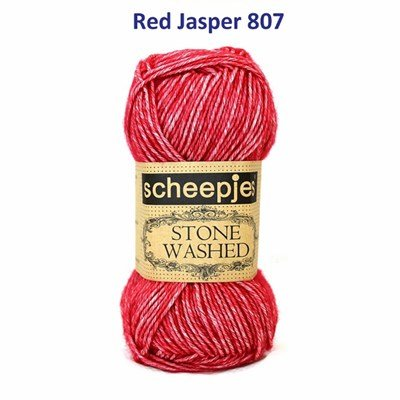 Scheepjes Stone Washed 807 Red Jasper