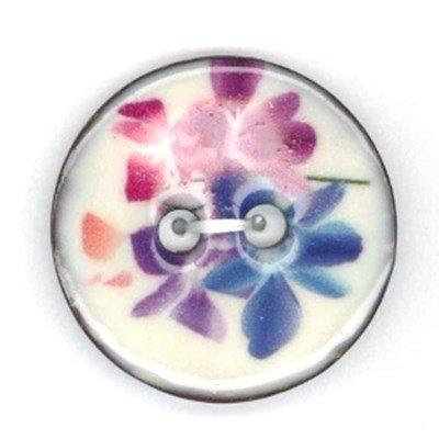 knoop geschilderde bloem 35 mm