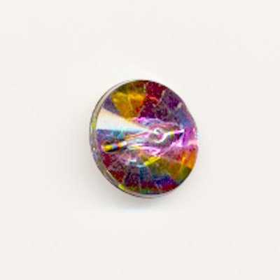 knoop 15 mm diamant gekleurd op=op