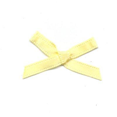 Strikje licht geel 3 a 2 cm 10 stuks op=op