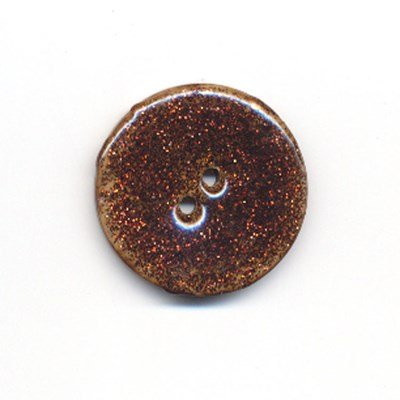 knoop 28 mm bruin glitter
