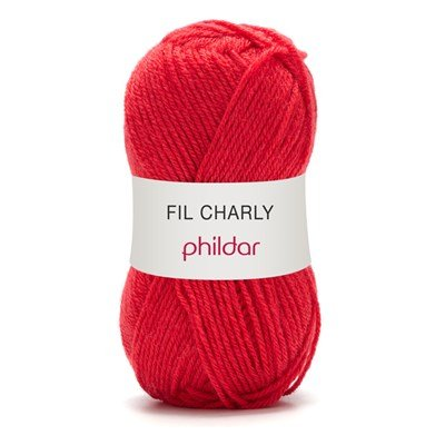 Phildar Charly Coquelicot 0023 - 1127 - rood op=op