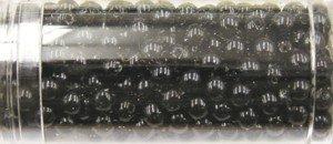 Glasparels 8 mm kleur 1000 - zwart