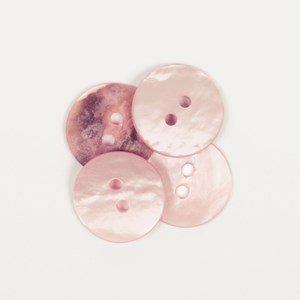 Knoop 15 mm roze bijpassend