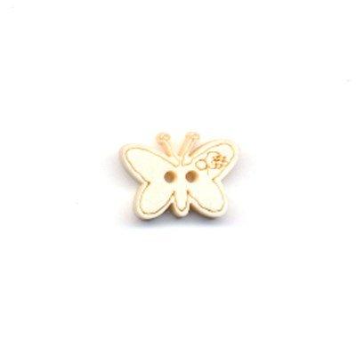knoop vlinder 15 a 10 mm - licht hout
