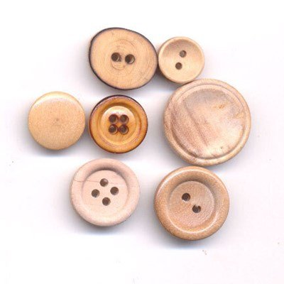 Knoop 11 mm houtlook rond