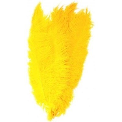 Veer 35 cm ca - geel op=op