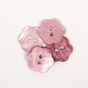 Knoop 15 mm bloem pink - 616