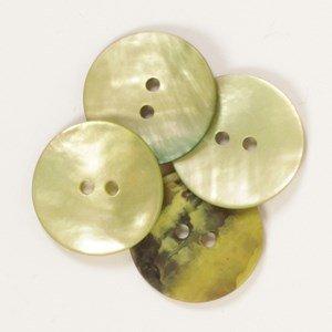 Knoop 20 mm rond groen - 611