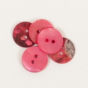 Knoop 15 mm rond rood - 605