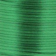 Satijnkoord 3 mm 009 groen - Kumihimo 2.30 mtr
