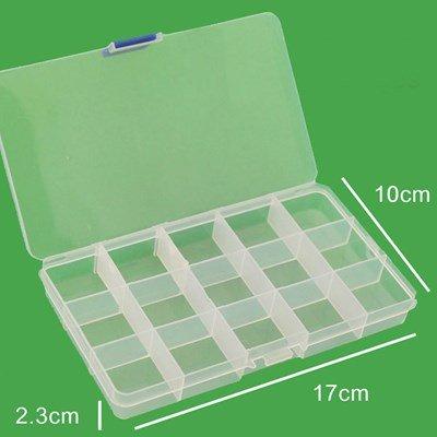 Box 15 vaks L17 x B10 x H2 cm