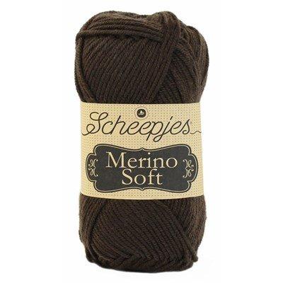 Scheepjes Merino soft 609 Rembrandt - donker bruin