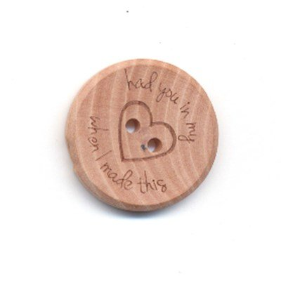 Knoop 25 mm licht hout - had you in my hart when I made this op=op