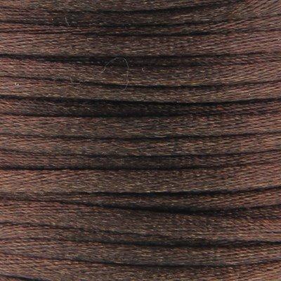 Satijnkoord 3 mm 003 cacao bruin - Kumihimo 5 mtr
