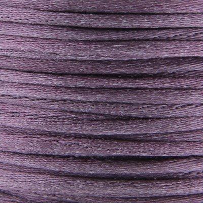Satijnkoord 3 mm 021 oud paars - Kumihimo 5 mtr