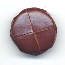 Knoop 26 mm nepleer bruin