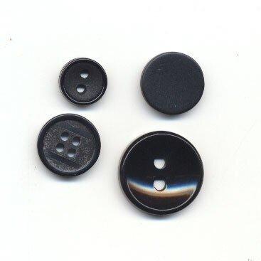 Knoop 22 mm zwart