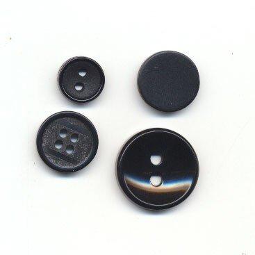 Knoop 17 mm zwart