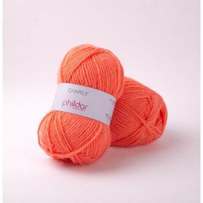 Phildar Charly Corail 0058 - 1063 - oranje zalm op=op