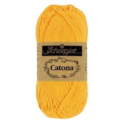 Scheepjes Catona 208 yellow gold 50 gram
