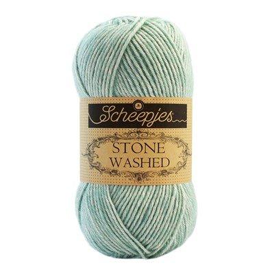Scheepjes Stone Washed 828 Larimar - oud mint groen