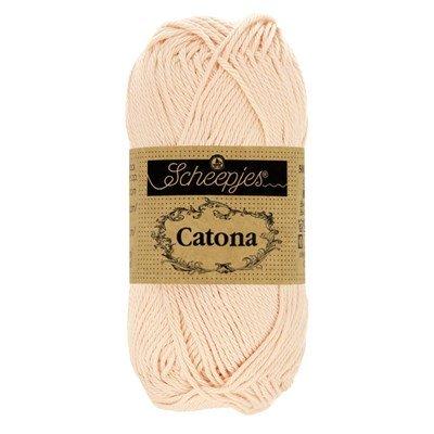 Scheepjes Catona 255 Nude 50 gram - licht huidskleur
