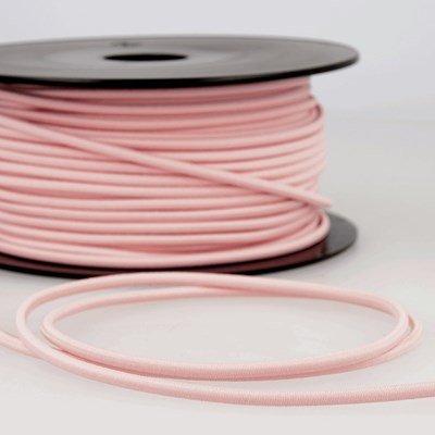 Elastiek koord 3 mm - roze licht 4,95 meter