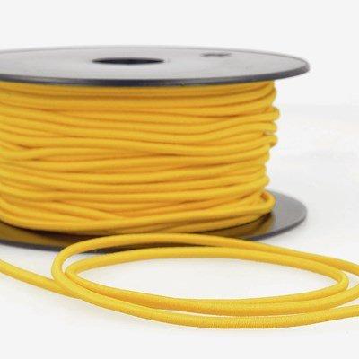 Elastiek koord 3 mm - geel 4,95 meter