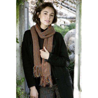 Lang Yarns Leaflet sjaal - magic tweed