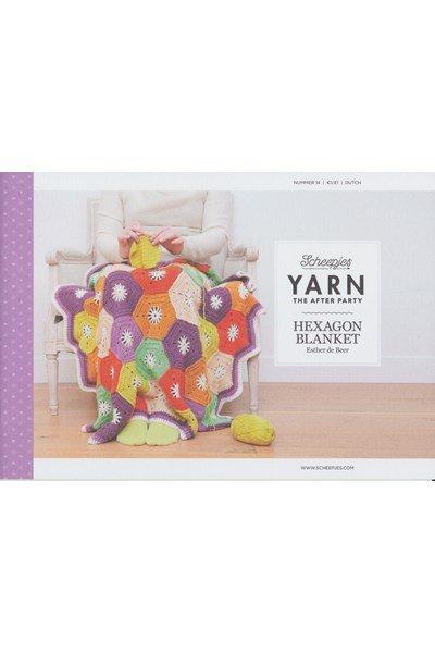 Scheepjes Yarn after party no. 14 hexagon deken
