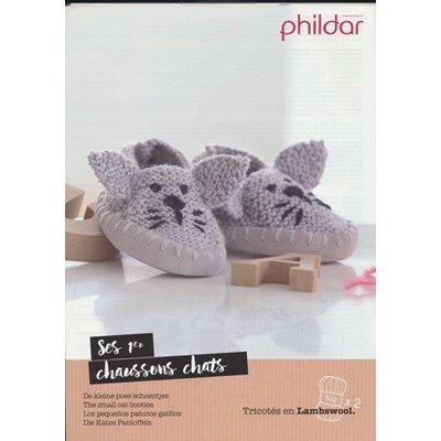 Leaflet Phildar pantoffels poes op=op